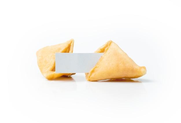Biscoitos da sorte com papel branco em branco