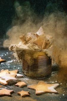 Biscoitos de açúcar em forma de estrela