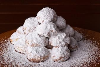 Biscoitos de amêndoa com cobertura
