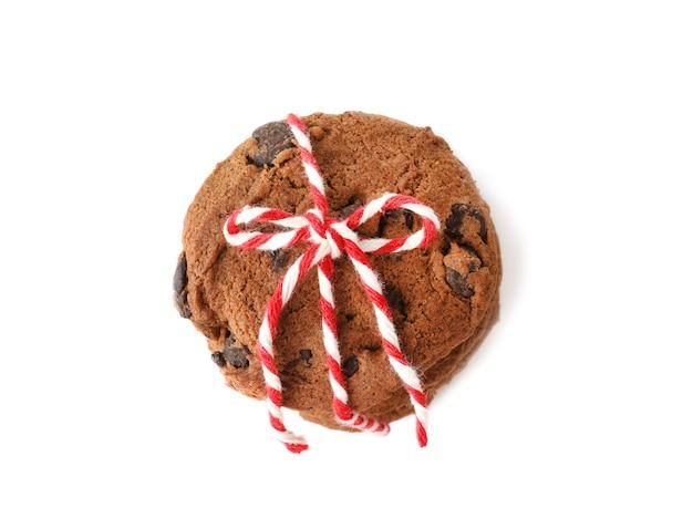 Biscoitos de aveia deliciosos com gotas de chocolate