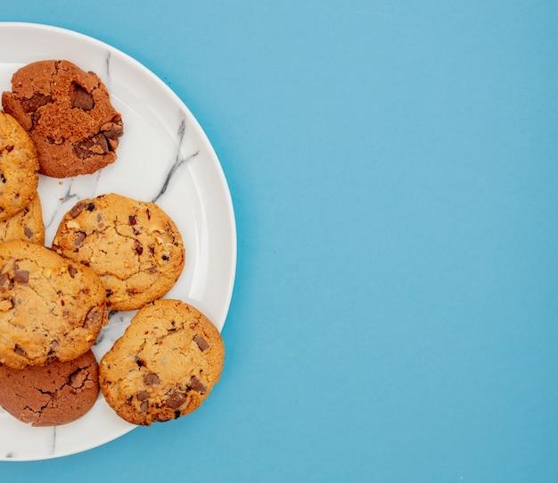 Biscoitos de aveia em um prato