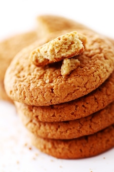 Biscoitos de aveia frescos e saborosos