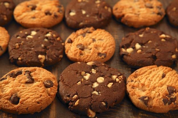 Biscoitos de biscoito de chocolate