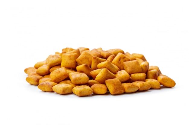 Biscoitos de bolacha isolado isolado no branco