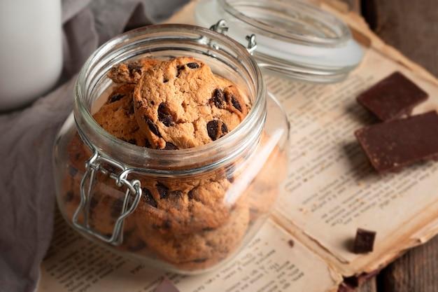 Biscoitos de chocolate close-up
