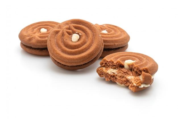 Biscoitos de chocolate com creme