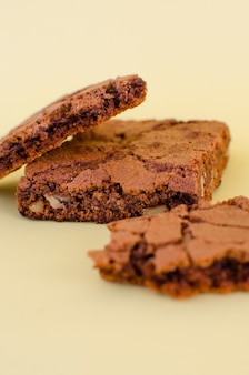 Biscoitos de chocolate deliciosos e apetitosos