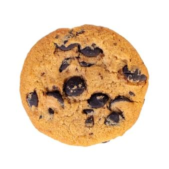 Biscoitos de chocolate isolados no branco. biscoitos doces.