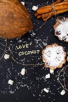 Biscoitos de coco doce