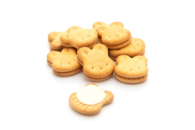 Biscoitos de coelho com creme