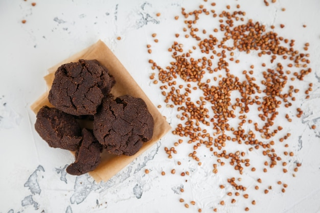 Biscoitos de farinha de trigo sarraceno caseiro