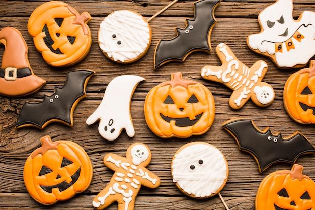 Biscoitos de festa de halloween delicioso