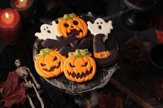 Biscoitos de gengibre de halloween para festa
