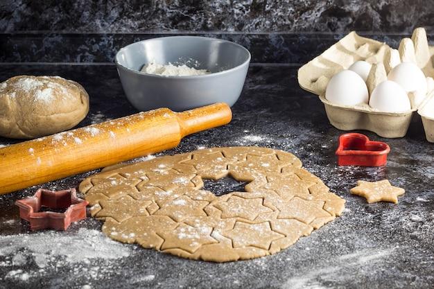 Biscoitos de gengibre de natal.