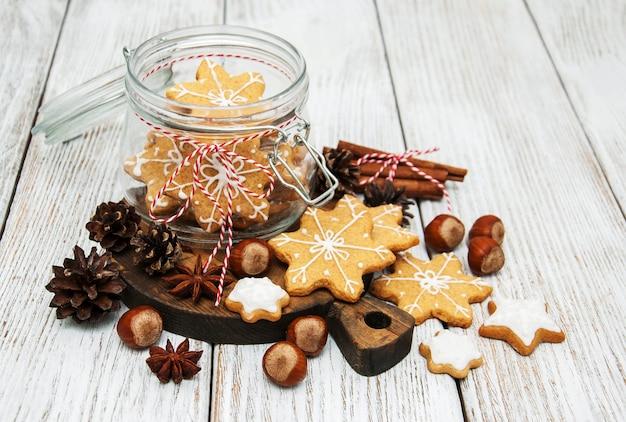 Biscoitos de gengibre de natal