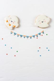 Biscoitos de gengibre engraçado para o halloween.