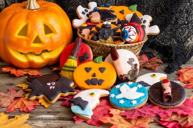 Biscoitos de manteiga de halloween