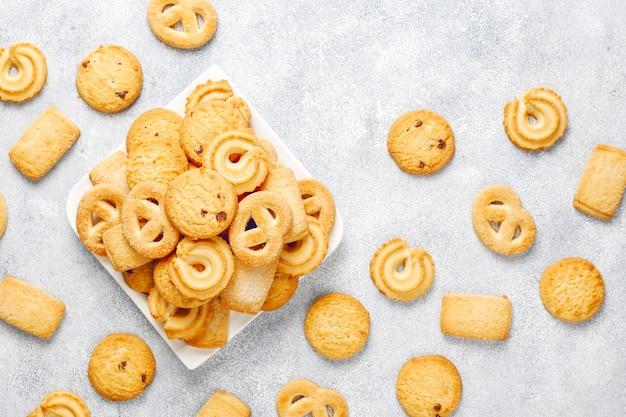 Biscoitos de manteiga dinamarqueses.