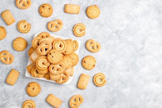 Biscoitos de manteiga dinamarqueses. Foto gratuita