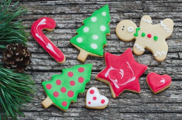 Biscoitos de natal caseiros.