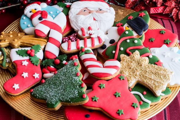 Biscoitos de natal decorados