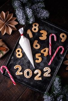 Biscoitos de natal e ano novo