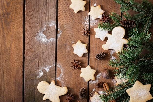 Biscoitos de natal e enfeites de natal