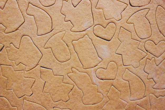 Biscoitos de natal são caseiros. foco seletivo. comida.