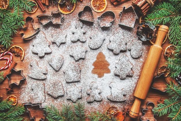 Biscoitos de natal são caseiros. foco seletivo. feriados