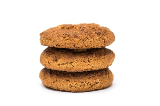 Biscoitos de páscoa em fundo branco