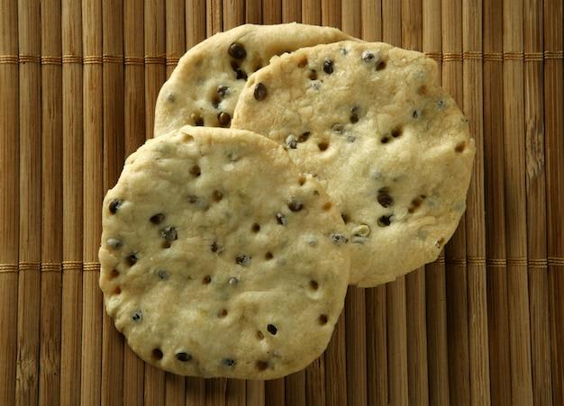 Biscoitos de sementes de gergelim