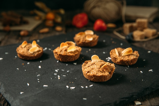 Biscoitos de sobremesa saudável doce aveia