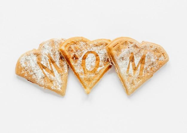 Biscoitos do dia das mães com vista superior