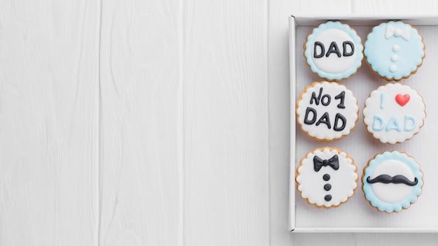 Biscoitos do dia dos pais na caixa