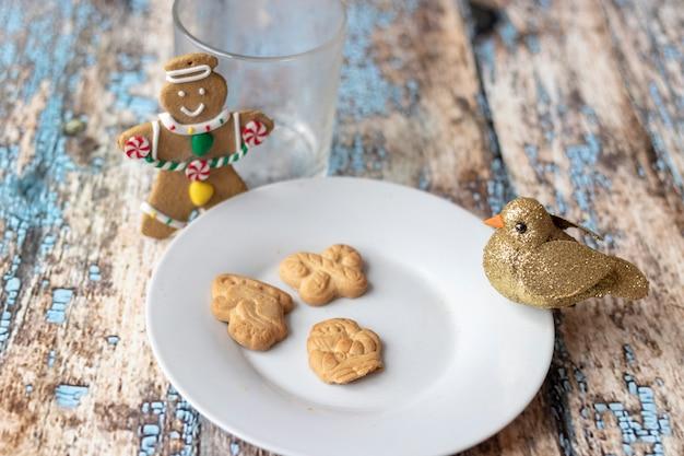 Biscoitos e leite para o papai noel
