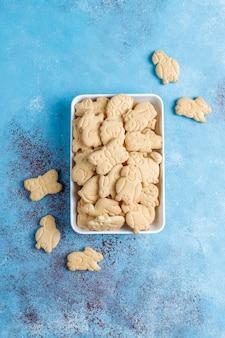 Biscoitos em forma de animal.