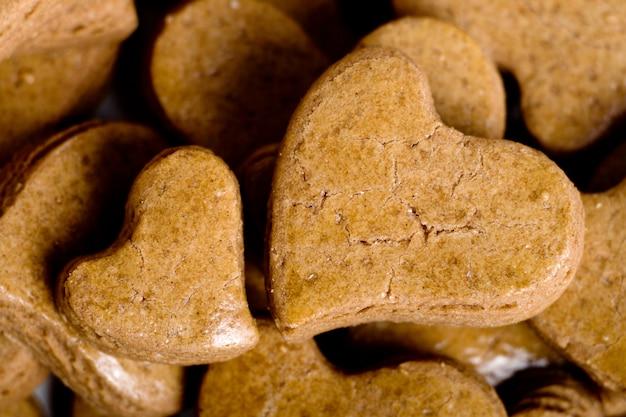 Biscoitos em forma de coração