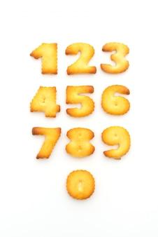 Biscoitos em forma de números