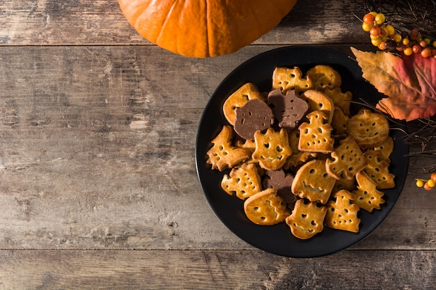 Biscoitos engraçados de halloween