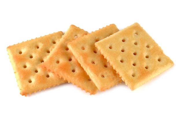 Biscoitos forrados isolados no branco