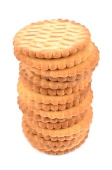 Biscoitos isolados no branco