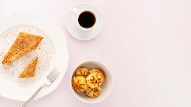 Biscoitos orgânicos deliciosos e café da manhã