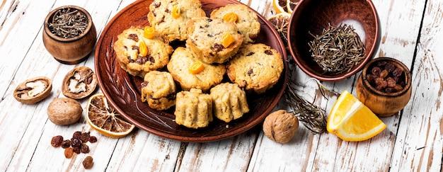 Biscoitos recém-assados