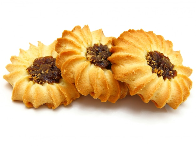 Biscoitos saborosos com geléia