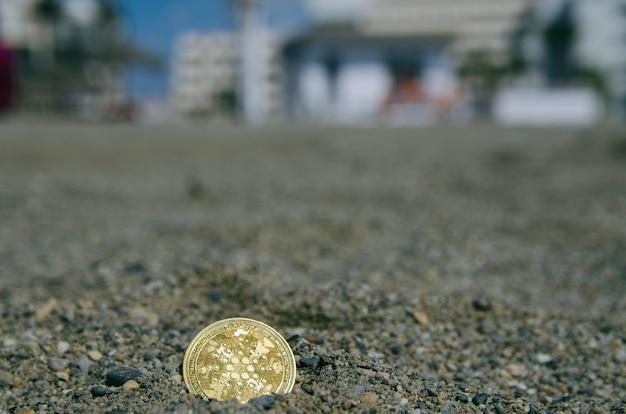 Bitcoin ada moeda token digital cripto moeda moeda um conceito de tesouro escondido
