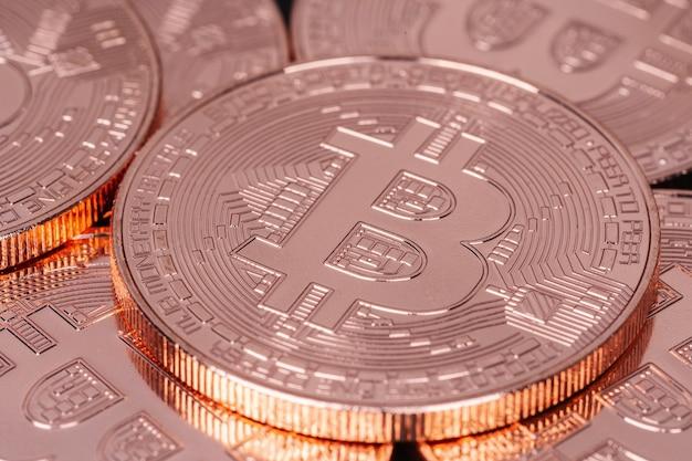 Bitcoin de bronze físico da criptomoeda
