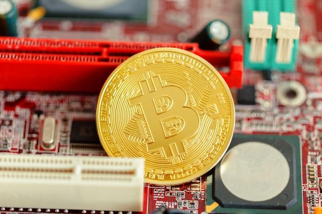 Bitcoin dourado na cpu