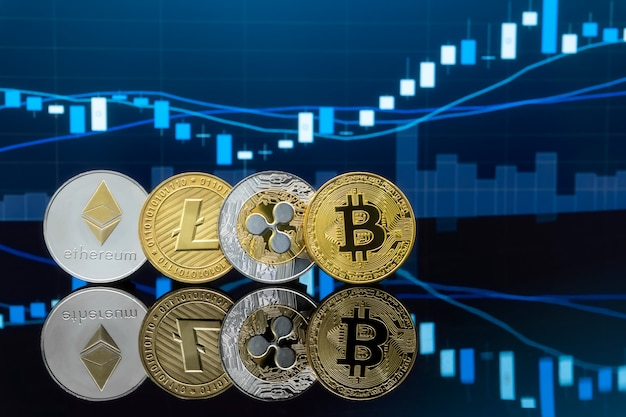 Bitcoin e cryptocurrency conceito de investimento.