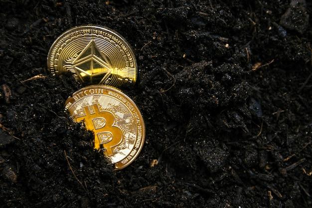 Bitcoin e ethereum estão lutando pela liderança em criptomoedas de mineração