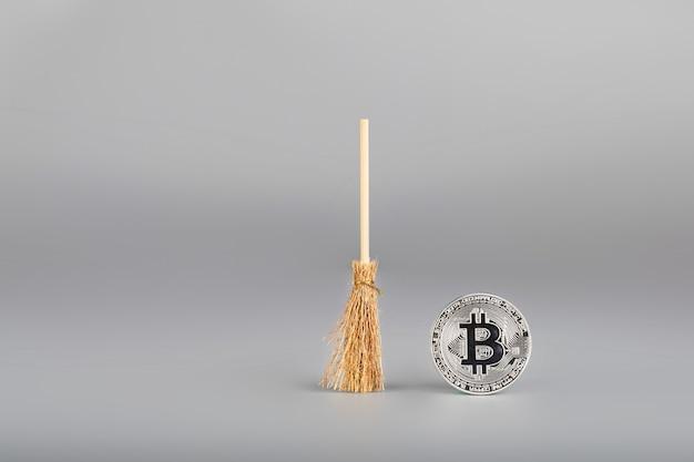 Bitcoin e mini varredor. fechar-se